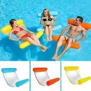 Outdoor Floating Water Hammock Recliner Inflatable Mattress Water Beach Pool Mats Lounger Floating Sleeping Bed Chair