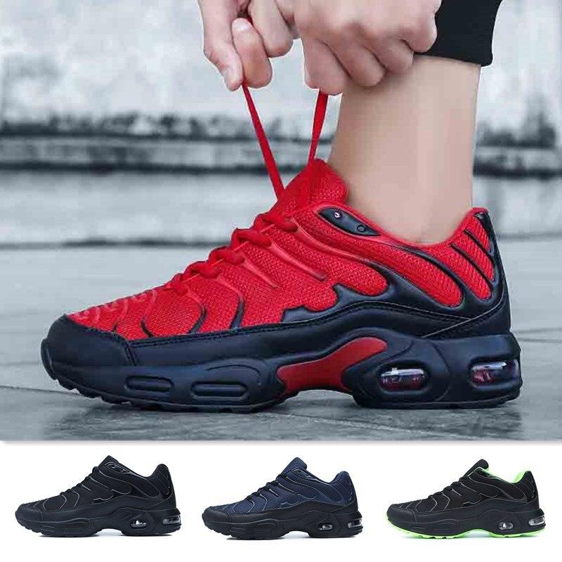 حذاء جري شبكي مسامي ومبطن بالهواء للرجال ، أحذية رياضية احترافية ، أحذية رياضية خارجية ، أحذية مشي ، مقاس كبير 47