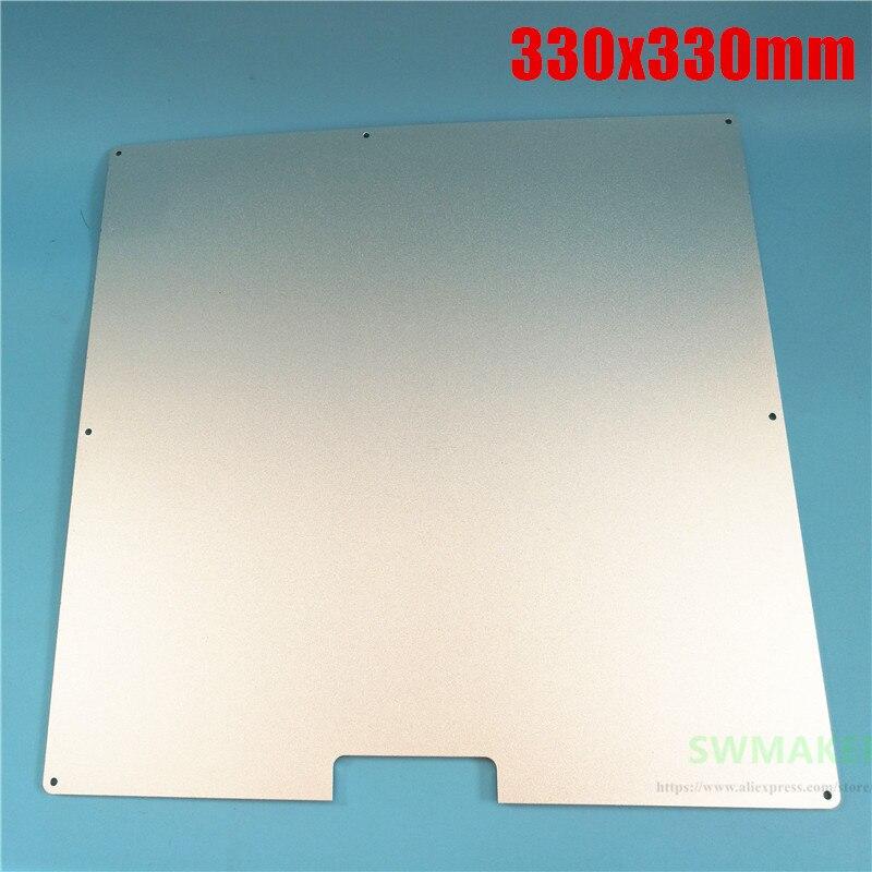 330*330mm MK2A Placa de construcción de aluminio cama calentada 330x330mm 3mm de espesor para impresora 3D