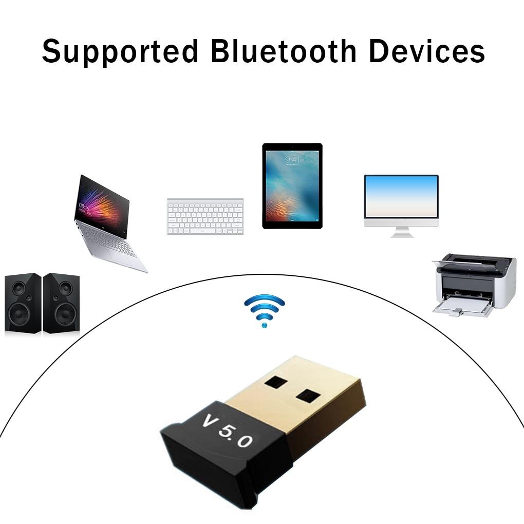 V5.0 Wireless USB Bluetooth 5.0 Adapter Bluetooth Dongle Music Receiver Adapter Bluetooth Transmitter For Desktop WIN 10
