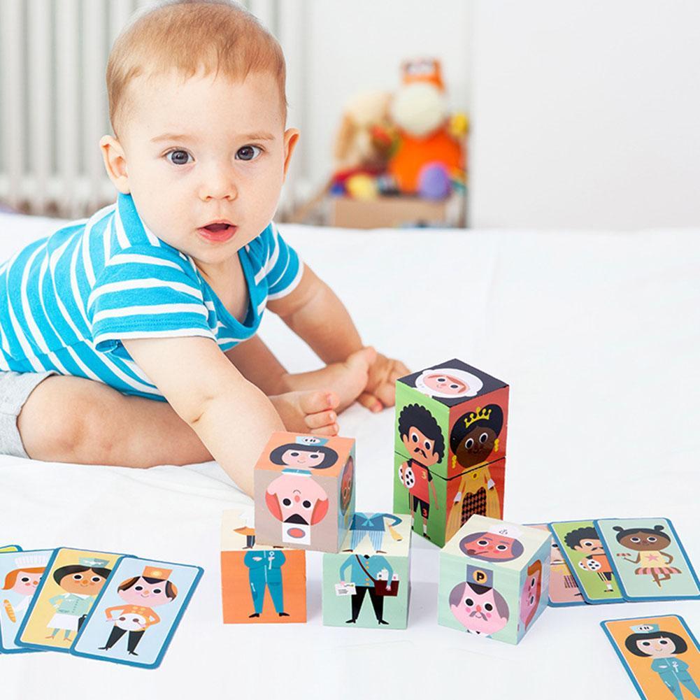 Figuras de dibujos animados en 3D, bloques de rompecabezas de madera, modelos de puzles, juguetes de aprendizaje temprano para niños, regalo de cumpleaños para niños
