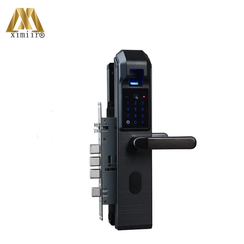 Biometric Fingerprint Door Lock Intelligent Electronic Lock XM-S903 Fingerprint Verification With Password & RFID Unlock