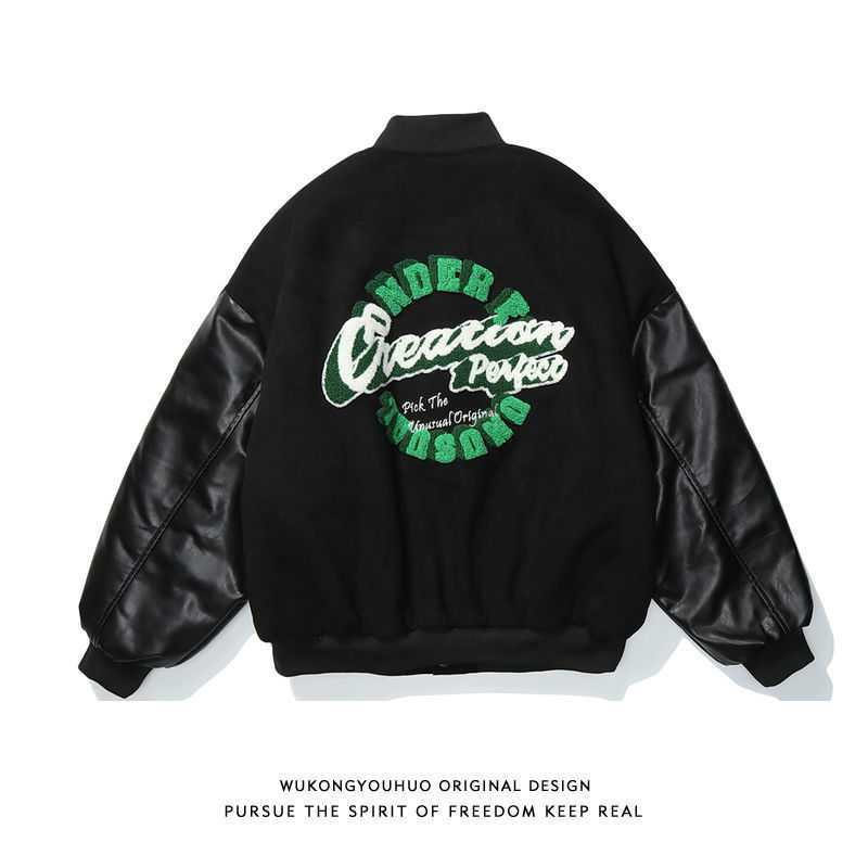 Spring 2021 American vintage jacket printed baseball clothes comfortable female fashion brand loose casual fried street sentimen