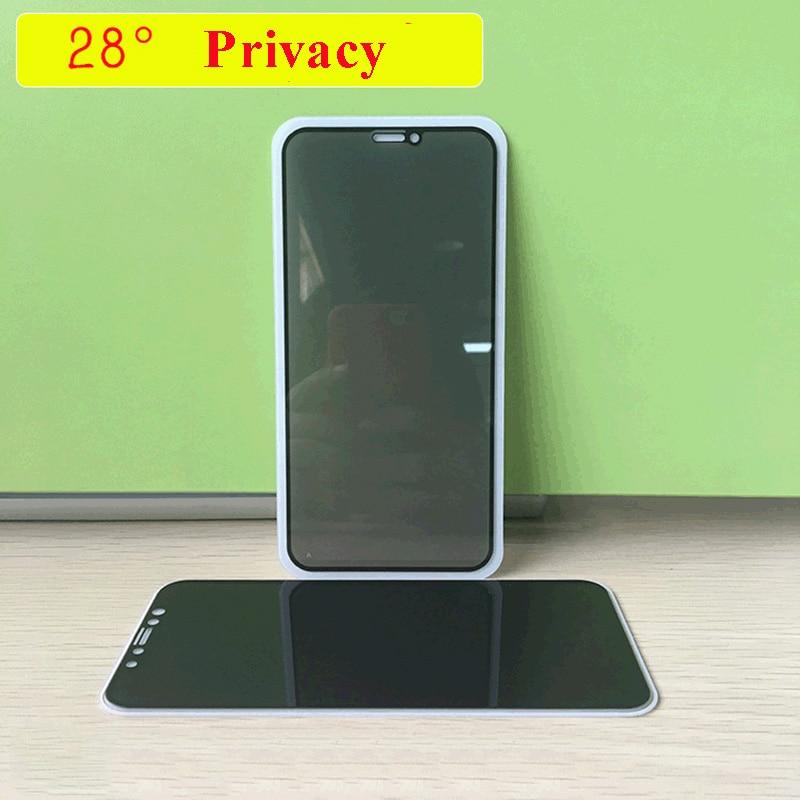 10 Uds. Protector de pantalla de vidrio templado lprivacidad para móvi iphone...
