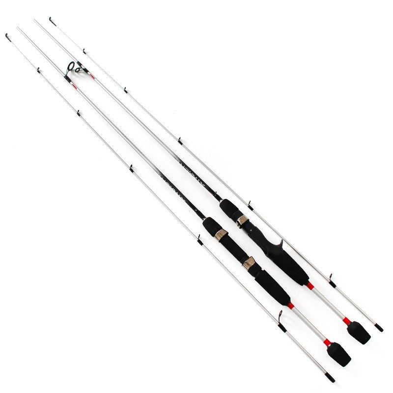 Caña de pescar giratoria de fundición de energía UL, caña de pescar de carbono sólido suave de prueba de 1/64-1/8oz, caña de pescar de 1,5 m y 1,8 m