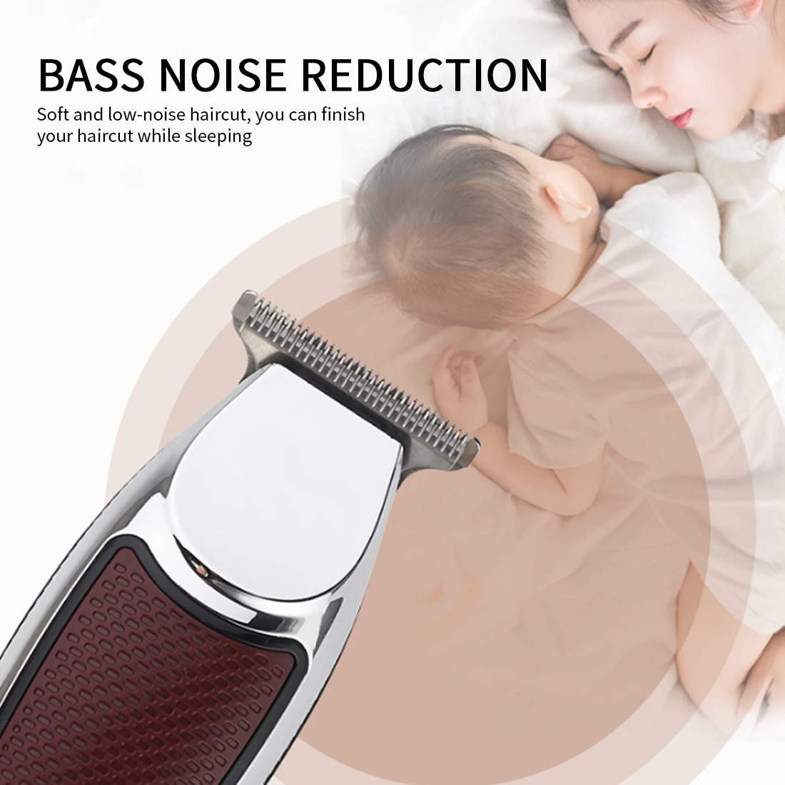Men's Hair Clipper Professional Hair Trimmer Titanium Ceramic Blade Ear Shaver Adult Razor Grooming Low Noise Clipper Tool enlarge
