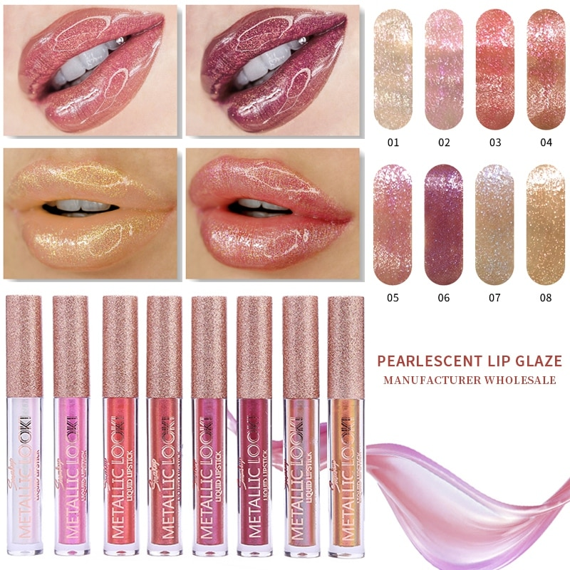 Hidratante Hidratante Brilho Labial Esmalte Copo À Prova D Água Anti-aderente Fácil de Cor Glitter Lip Gloss