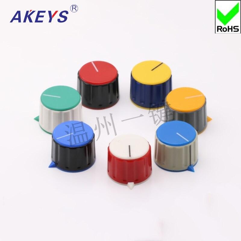 5 шт. потенциометр резиновая цветная ручка с гайкой Зажимная рукоятка головной