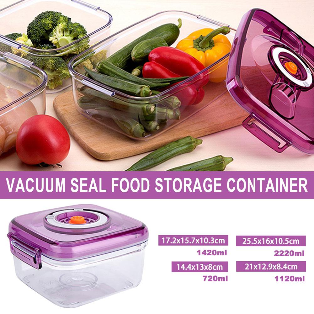 Вакуумный контейнер для хранения пищевых продуктов с воздушным насосом, контейнер для хранения пищевых продуктов, кухонные аксессуары для ...