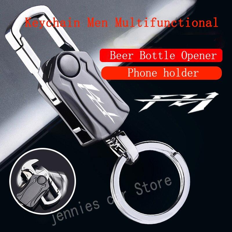 Motorcycle Metal Keychain Multi-function Key Ring With logo For YAMAHA FZ1 FAZER fz 1 yamaha fz1 fazer Accessories недорого