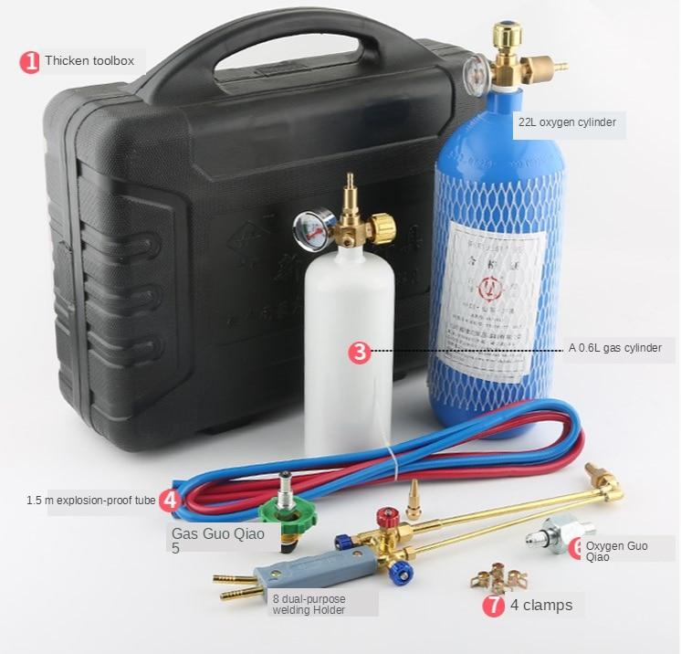 2L المحمولة الشعلة مجموعة التبريد صيانة أداة تكييف الهواء أنبوب نحاسي شعلة لحام الأكسجين الشعلة الغاز لحام المعدات