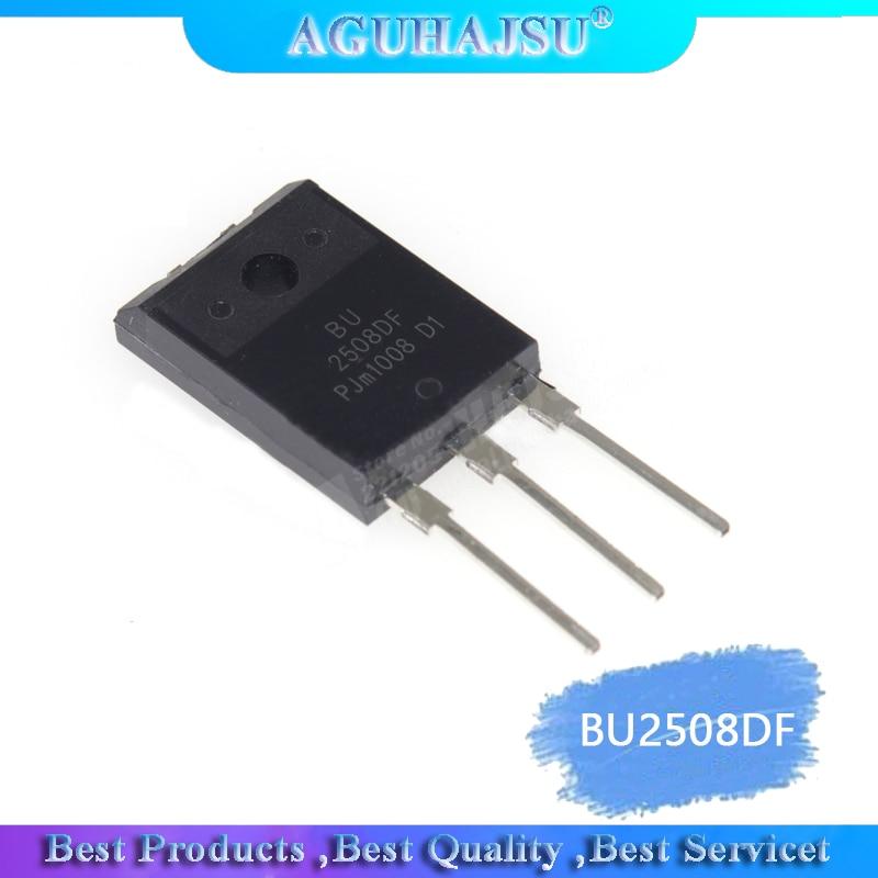 5 unids/lote en stock tubo de alimentación de línea de Transistor BU2508DF TO-3PF NPN 1500V 8A garantía de calidad