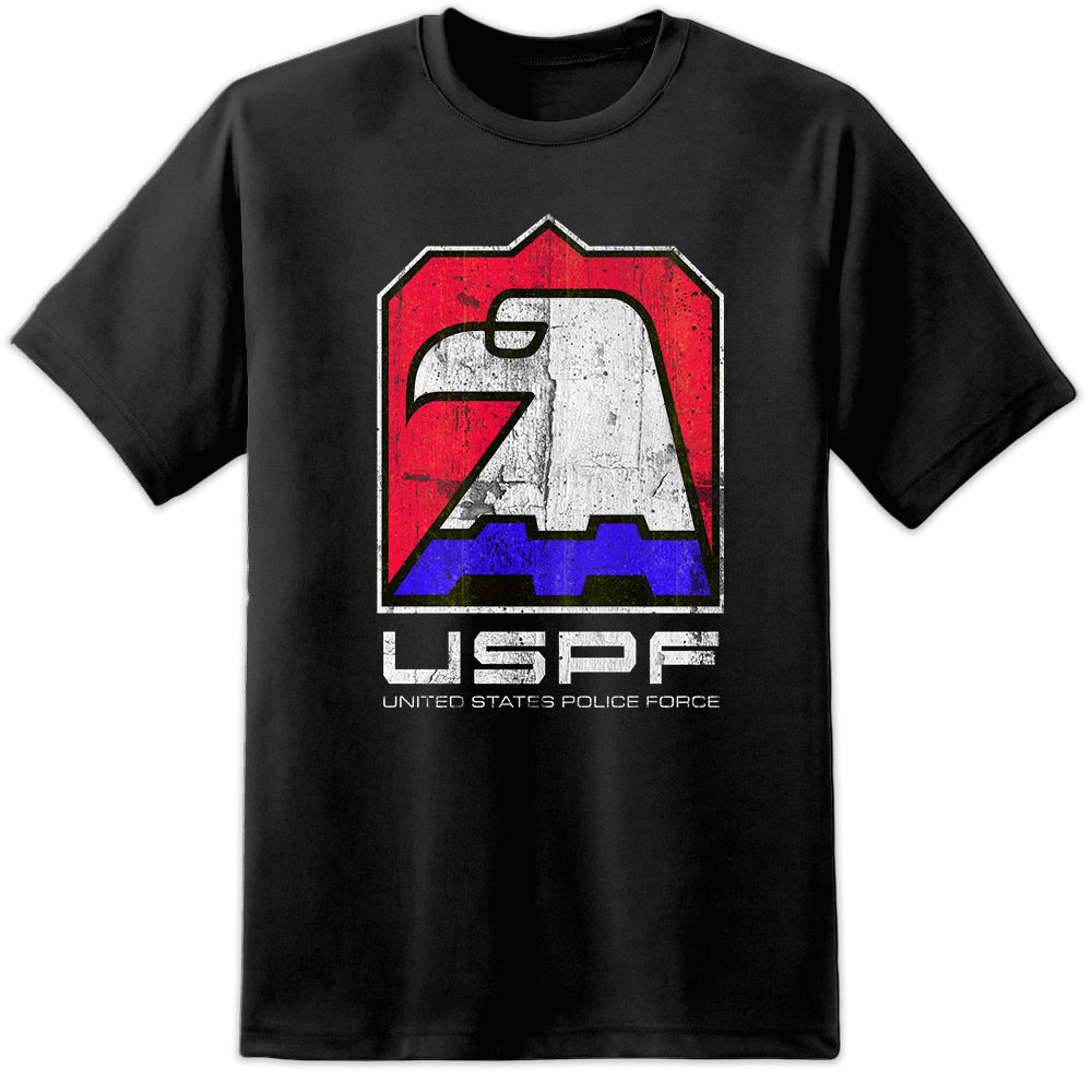 John Carpenters Escape From New York USPF Eagle Logo T Shirt Snake Plissken DVD Print T-Shirt Fashion Short Sleeve