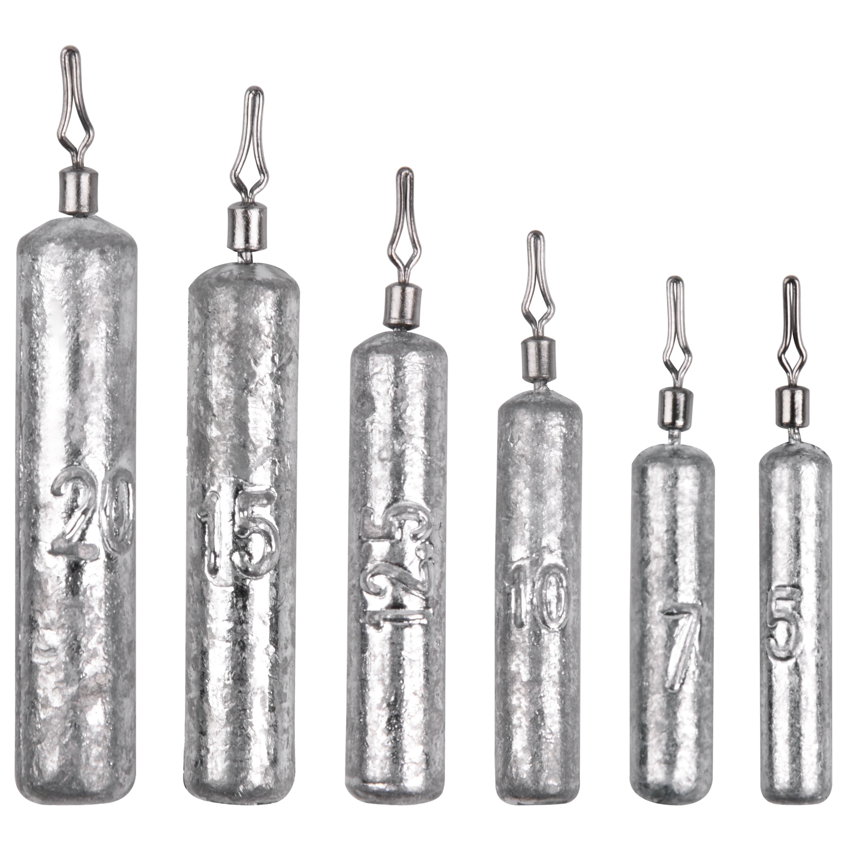 10 stücke Bleistift Drop Shot Gewichte Reinem Blei Fischerei Platinen Gewichte Für Bass Trout Crappie Wels-Größe 5g 7g 10g 12,5g 15g,20g