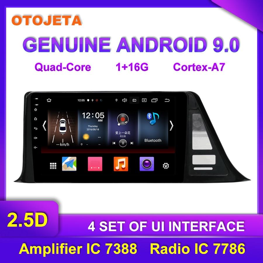 Venta directa de fábrica OTOJETA Android 9,0 Radio Multimedia para coche Toyota CHR bluetooth grabadora de vídeo para coche navegación GPS