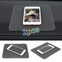 2pcs Black PVC Auto Car Anti Slip Dashboard Sticky Carpet Pad Non Slip Mat Holder Cell Phones GPS Car Interior Tool Auto Part