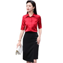 High-End Business Suit Skirt Women's Spring/Summer 2021 New Fashion Adult Lady like Woman Satin Shir