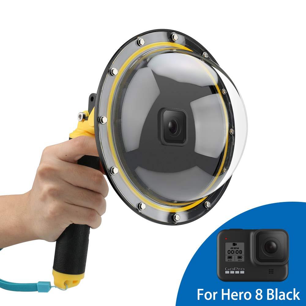 Accesorio para GoPro Hero 8, mango flotante de boya con gatillo y funda protectora impermeable para buceo sumergible de 6 pulgadas