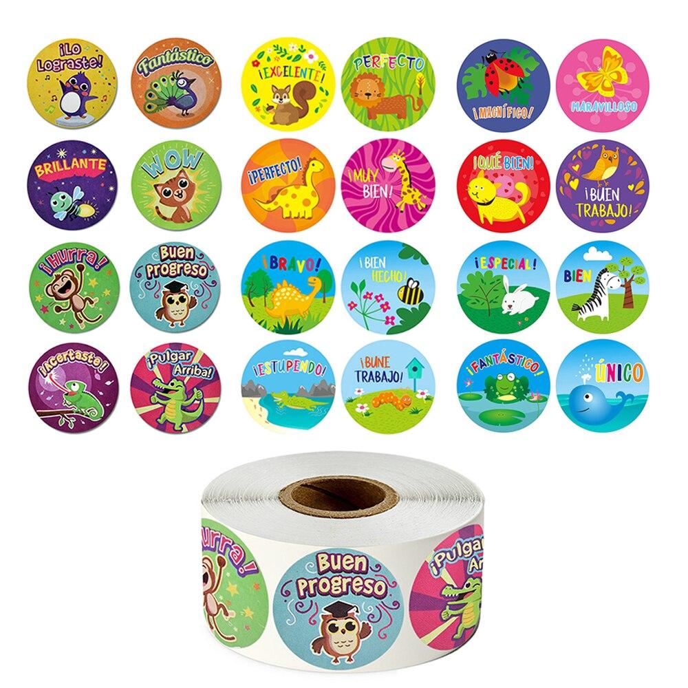 500-pcs-roll-spagnolo-ricompensa-adesivi-simpatici-animali-del-fumetto-adesivi-per-insegnante-studenti-incoraggiamento-cancelleria-sticker