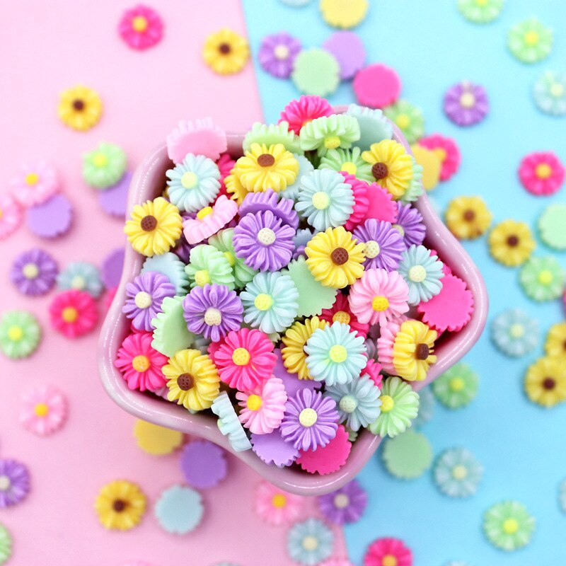 Baba flor encantos para baba DIY polímero de relleno, además de accesorios para Slime resina arcilla de juguete Kit para niños decoración para teléfono