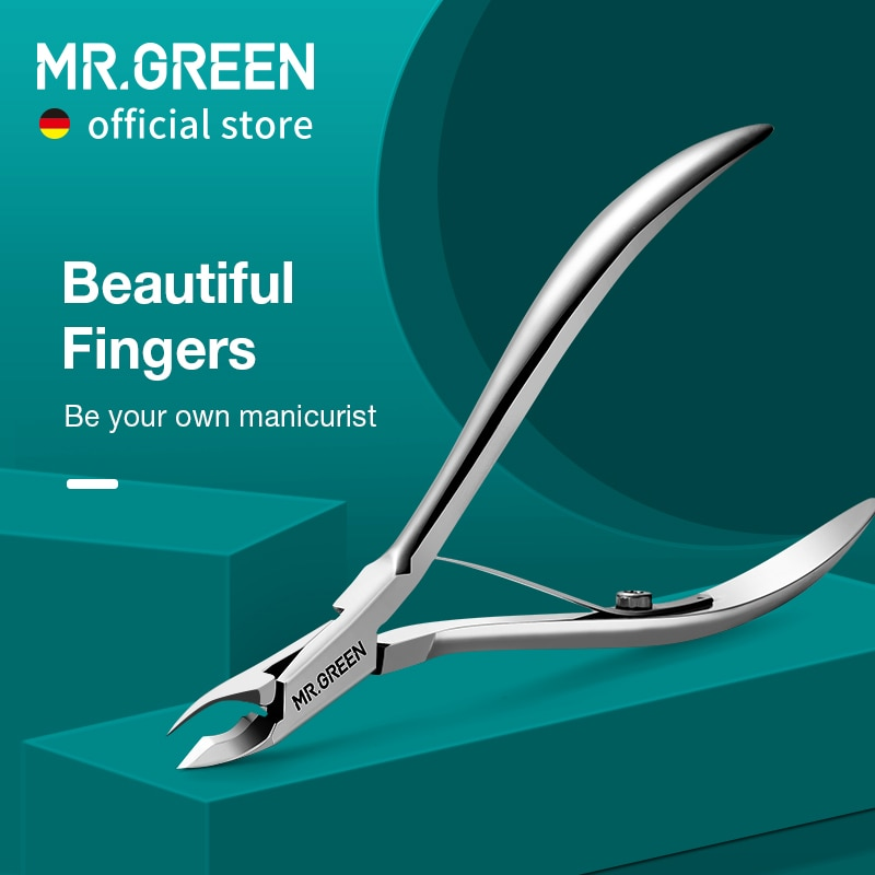 MR.GREEN Nail Cuticle Nipper Manicure Scissors Stainless Steel Tweezer Clipper Dead Skin Remover Scissor Pusher Tool Trimmer