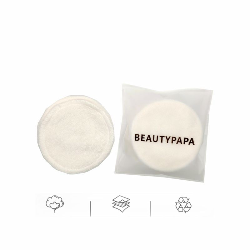6/8 piezas de removedor de maquillaje de Beautypapa reutilizables de algodón de doble capa limpiar almohadillas de limpieza almohadillas lavable de fibra de bambú de Facial de lavado