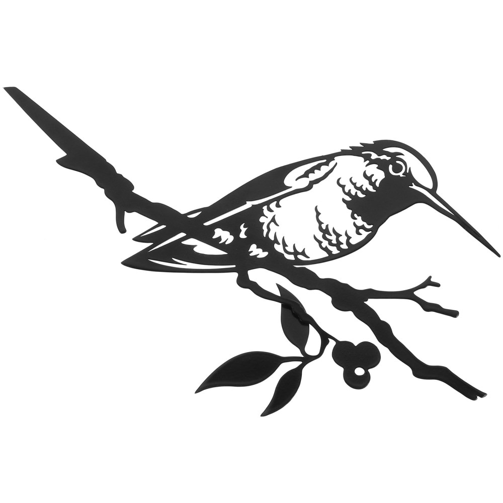 Black Hummingbird Decoration Metal Hummingbird Wall Decor Patina Silhouette Art