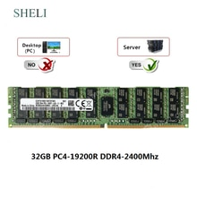 SHELI 32GB 2Rx4 DDR4-19200L DDR4-2400mhz 288PIN 1.2V charge réduite LRDIMM serveur RAM