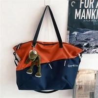 2021new large capacity simple handbag tide hand bill shoulder color matching travel backpack bag bags for women