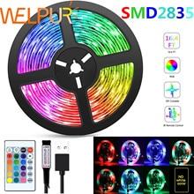 Striscia LED flessibile RGB 2835 USB 5V decorazione illuminazione telecomando lampada a nastro per festa camera da letto tvretroilluminazione