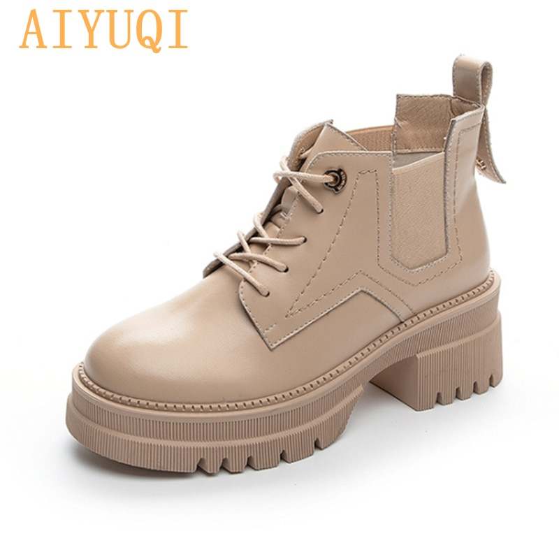 prova perfetto punk style women ankle boots special two kinds of wear rivet studded martin boots lace up genuine leather botas Martin Boots Women Platform 2021 New Autumn Lace-up Genuine Leather Women's Ankle boots British style Fashion Women's Booties