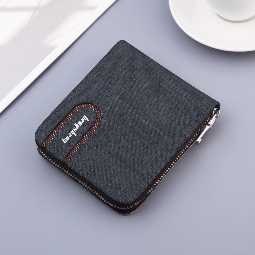 2021 New Canvas Zipper Short Men's Wallet With Coin Pocket Clutch Purse Bag For Male Money Wallet De