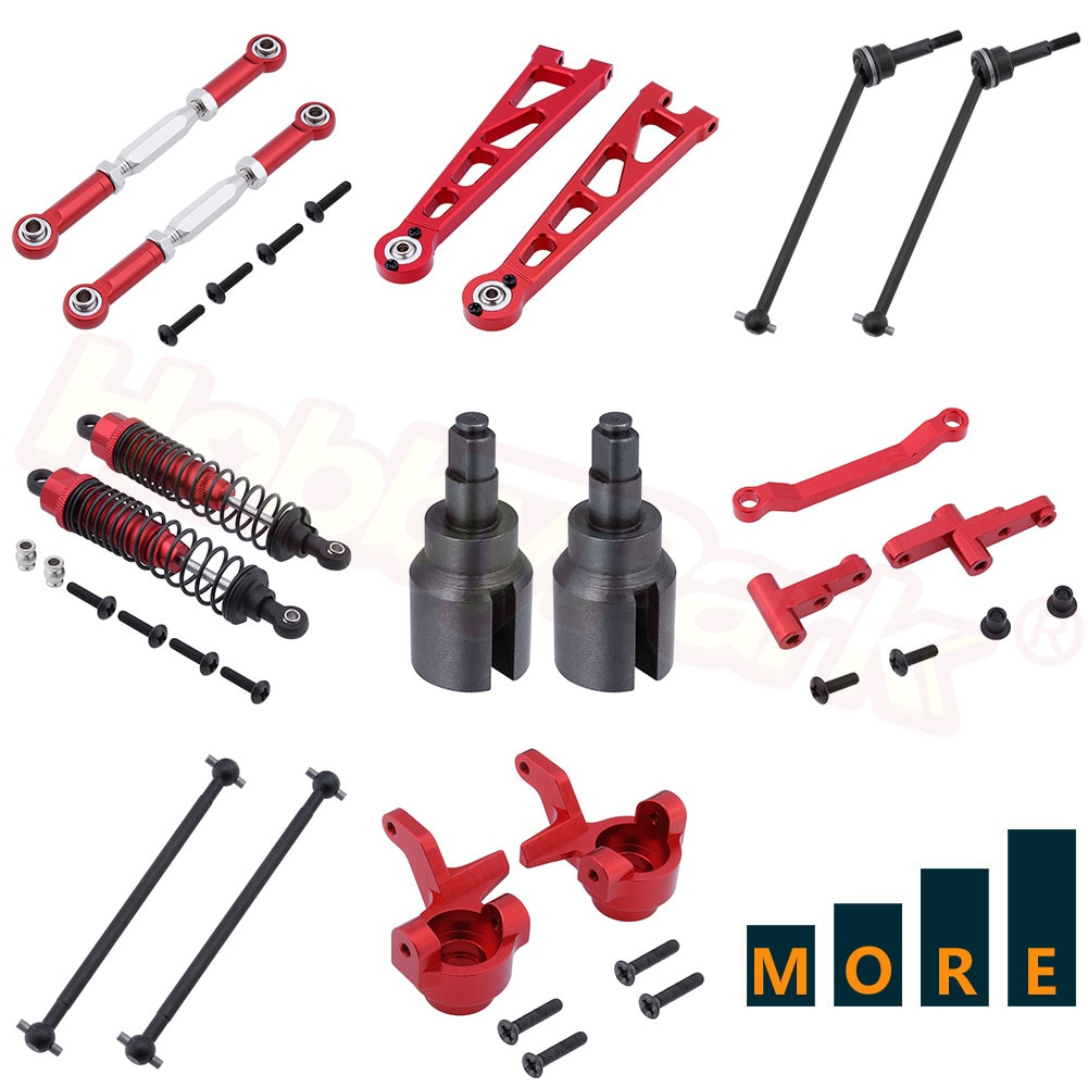 Aluminum Metal Upgrade Parts For 1:10 Electric Himoto E10XT E10XTL E10MT E10MTL Replacement Red