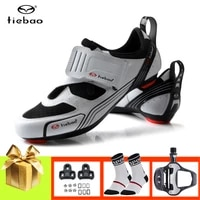 tiebao road cycling shoes triathlon sneakers men women sapatilha ciclismo breathable self locking road bike shoes cleats pedals