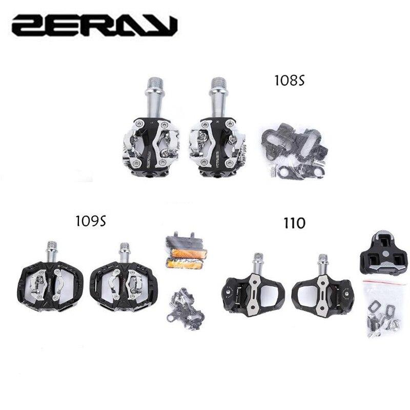 ZERAY ZP-108S109S110S-pedal de bloqueo automático para bicicleta de montaña, piezas de pedales...