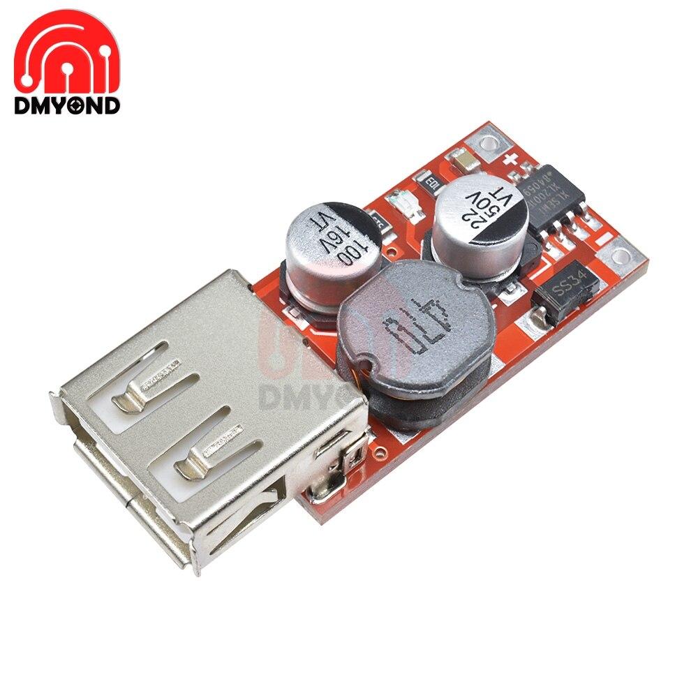 9V/12V/24V a 5V DC-DC bajar Carga de coche cargador de coche 3A salida módulo USB Diy Kit Diy electrónico Pcb Board