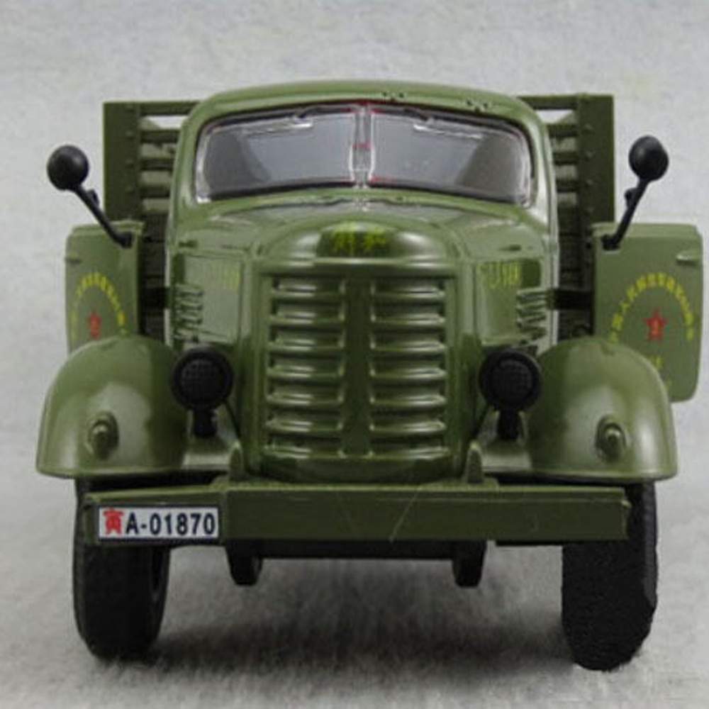 1 24 diecast model for naveco iveco nj2046 army truck green alloy toy car miniature collection gifts van Diecast Military Jiefang truck Model 1:32 Car&light Sound Army Green Kids Toy