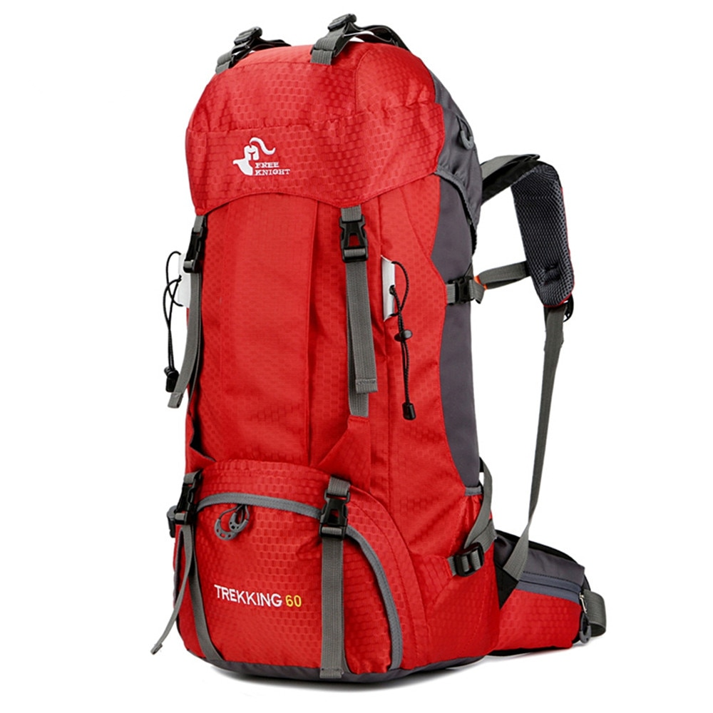 60L Camping Hiking Backpacks Outdoor Bag Tourist Backpacks Sport Bag For Climbing Travelling With Rain Cover