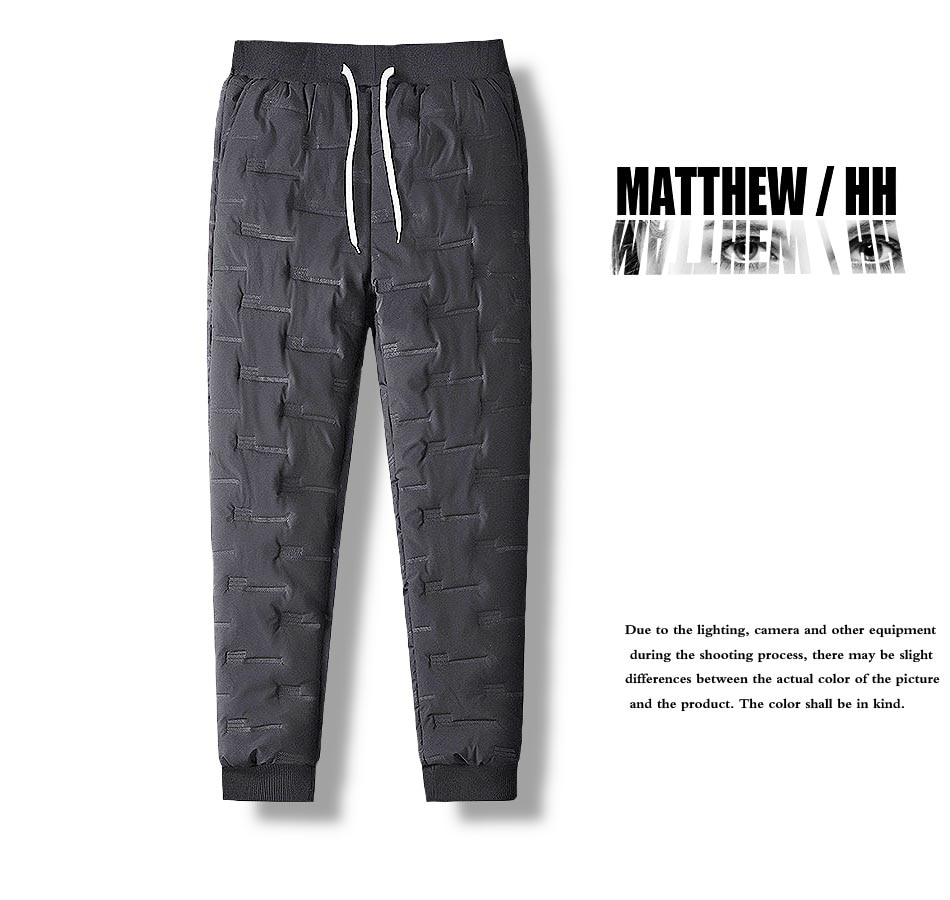Мужские утепленные брюки, мужские свободные спортивные брюки с веревкой, мужские домашние Зимние теплые брюки A063
