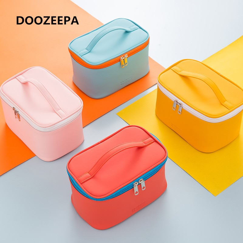AliExpress - DOOZEEPA Women's Cosmetic Bag Make Up Organizer Travel Make Up Necessaries Organizer Zipper Makeup Case Pouch Toiletry Kit Bags