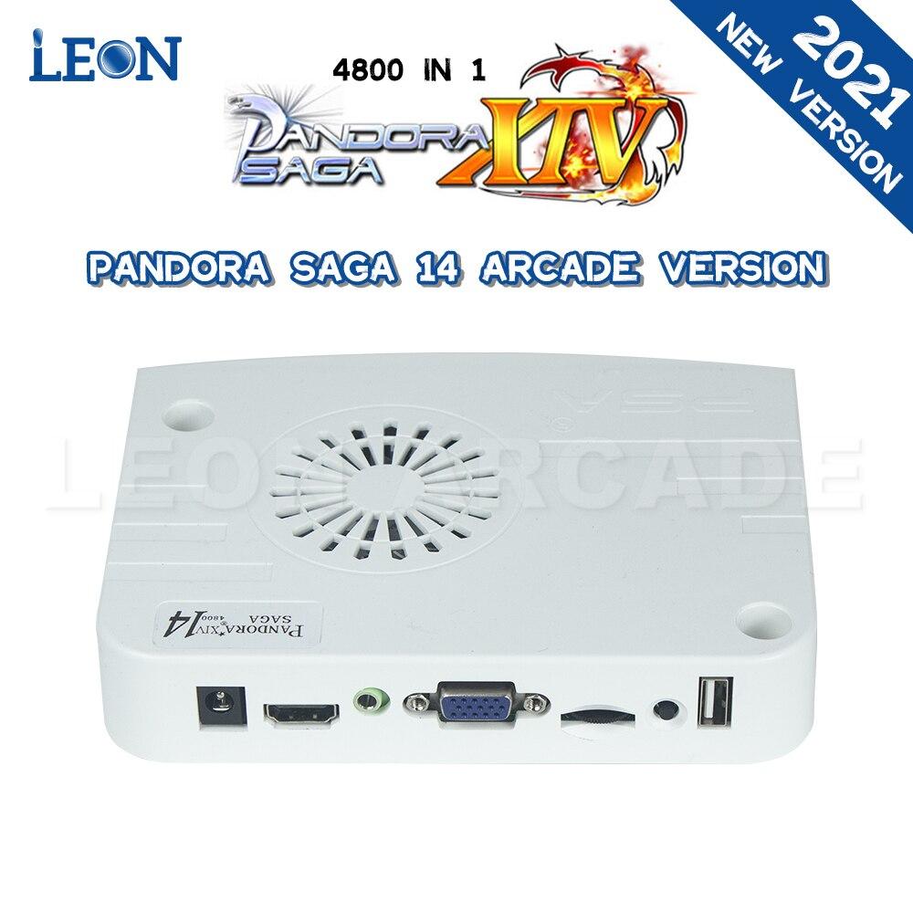 اللوحة الأم باندورا بوكس ساغا 14 ممر الإصدار 4800 في 1 دعم 4 لاعبين التحكم ممر صندوق الألعاب باندورا بوكس جاما Pcb