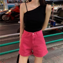 solid color women thin knitted summer new belt tank 4896#