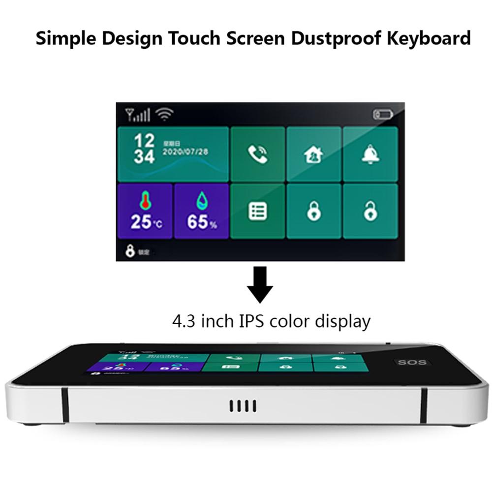 GSM Security Alarm SystemI OS Android TUYA APP SIM WIFI SOS LCD Touch Keyboard Intercom Remote Control Autodial Siren Sensor Kit enlarge