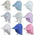 Солнцезащитная шапка с УФ-защитой, летняя пляжная головная уборка унисекс для новорожденных, младенцев, малышей, мальчиков и девочек, хлопковая кепка