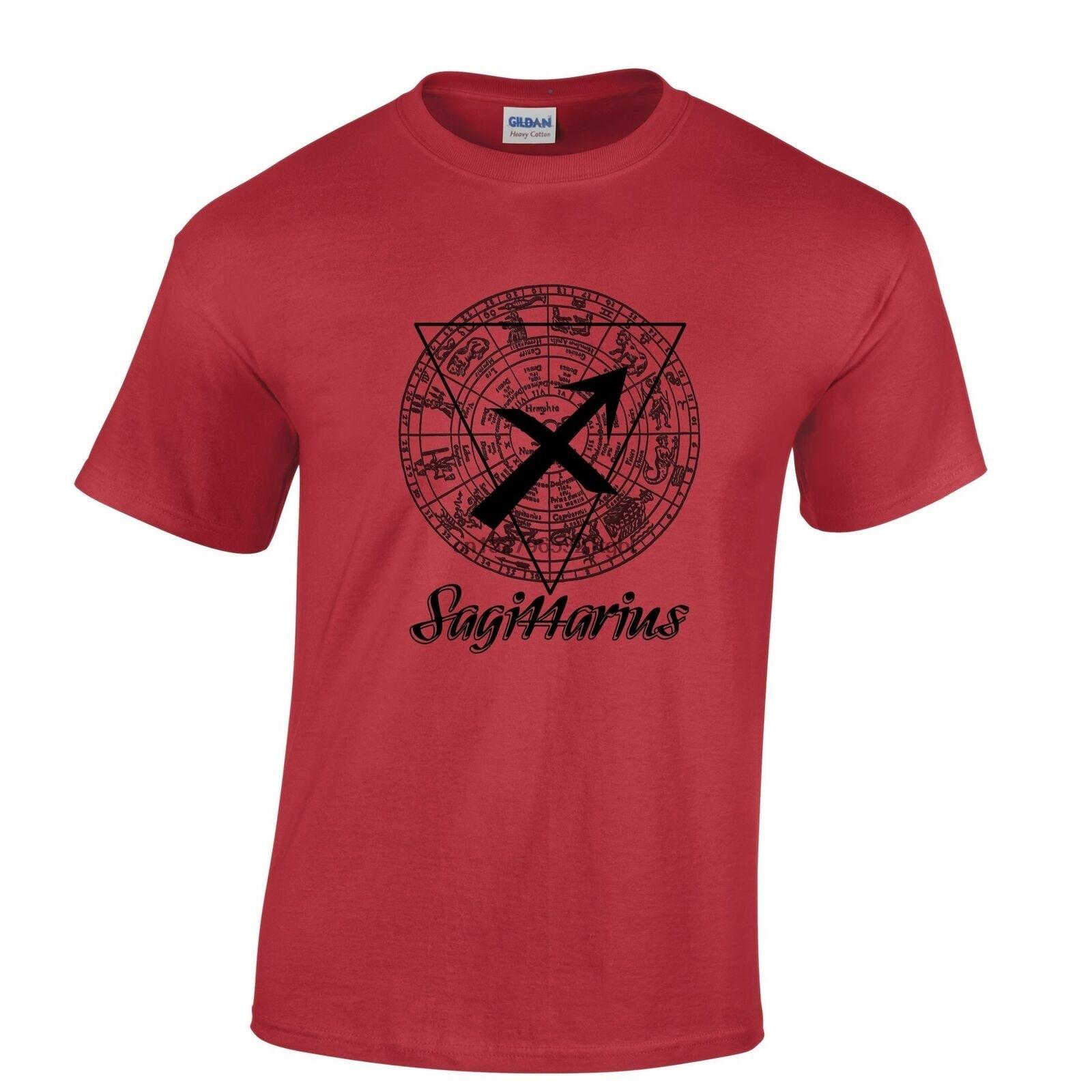 Horoscope T Shirt Sagittarius Zodiac Sign Birthday Fortune Tellin Harajuku streetwear shirt men