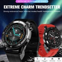 F22 1.54 Polegada toque completo multilingue relógio inteligente controle bluetooth freqüência cardíaca para android ios smartwatch para homem