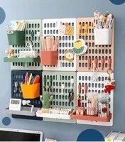 room decor diy hole board wall shelf hooks desk organizer make up organizers room organization storage rack home accessories