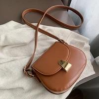 yoreai new casual retro crossbody bags for women fashion simple shoulder bags ladies designer handbags pu leather messenger pack