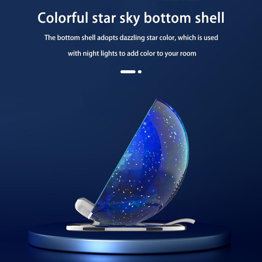 4 In 1 Wireless Speaker 3D Stereo Desktop Phone Stand Digital Speaker Music Player Bluetooth-compatible Bedside Night Light enlarge