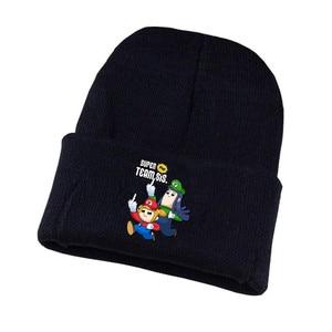 Winter Men women Knitted hat anime pop team epic cap Cosplay Costume Unisex Cotton Hat Baseball Skullies Beanie Knitted Cap